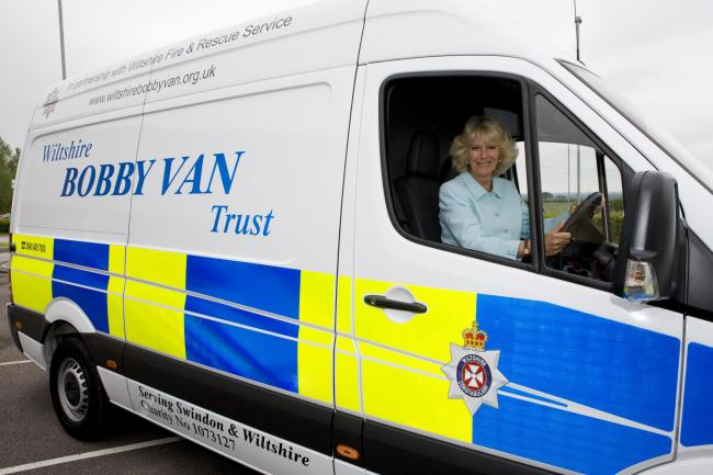Camilla, Duchess of Cornwall is the patron of the Wiltshire Bobby Van Trust