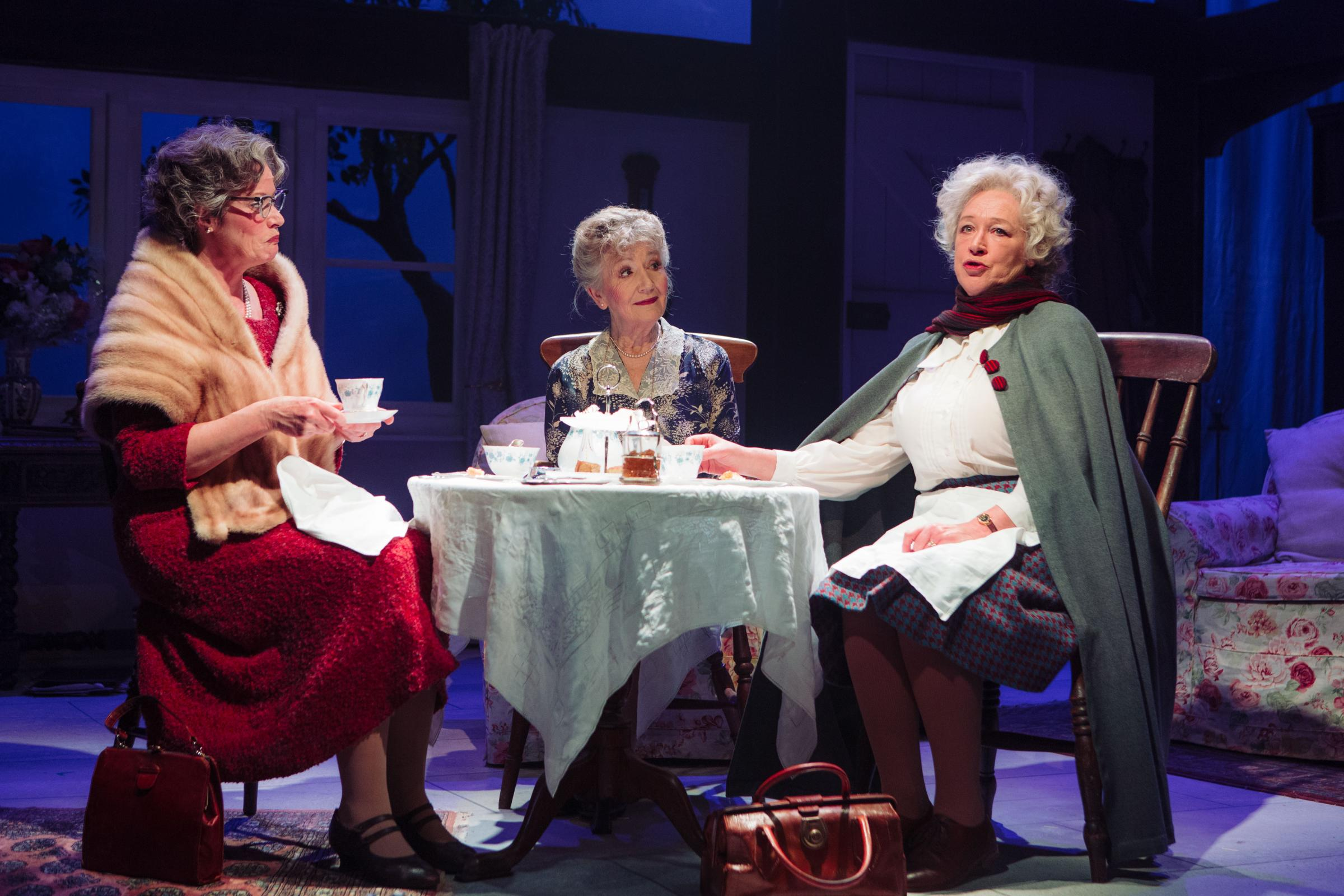 Kate Brown, Tina Gray and Sarah Parks in Murder, Margaret and Me. Photo Helen Murray.