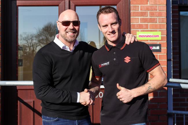Tommy Bridewell with Halsall Racing team owner Martin Halsall after rejoining the team for the 2018 season