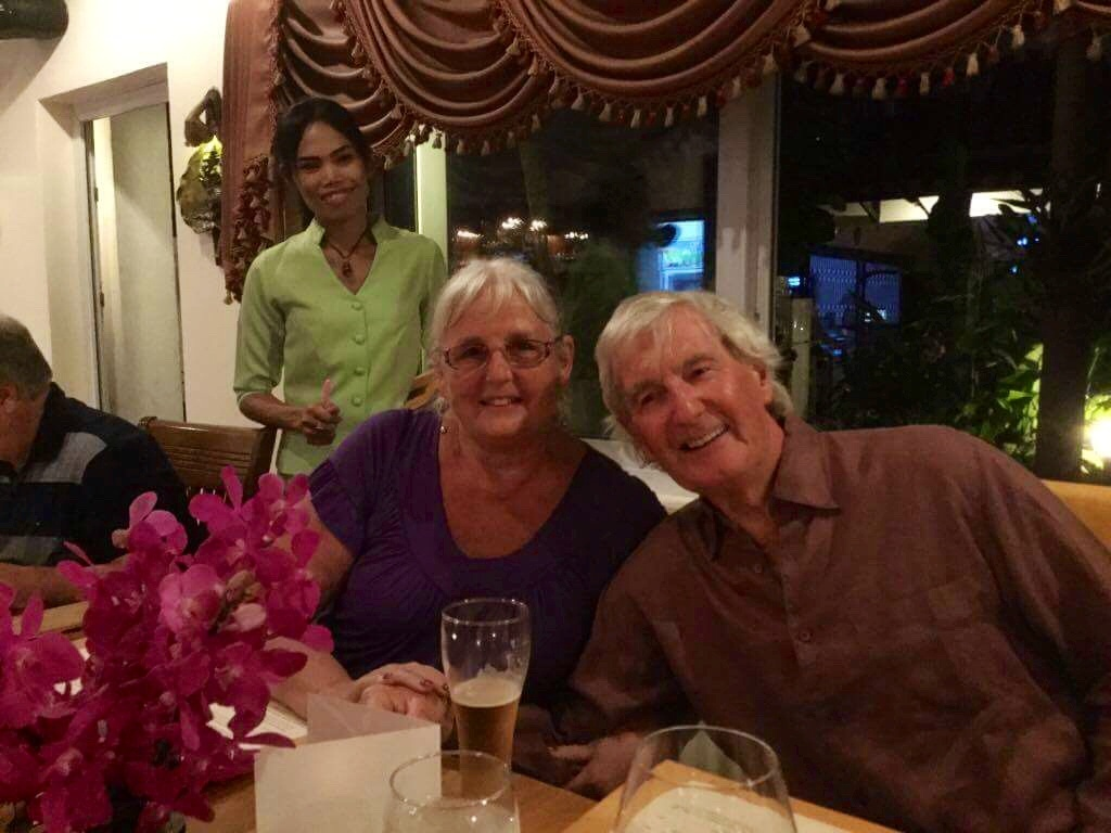 Norma and Malcolm Humphreys celebrate their diamond wedding anniversary in Asia