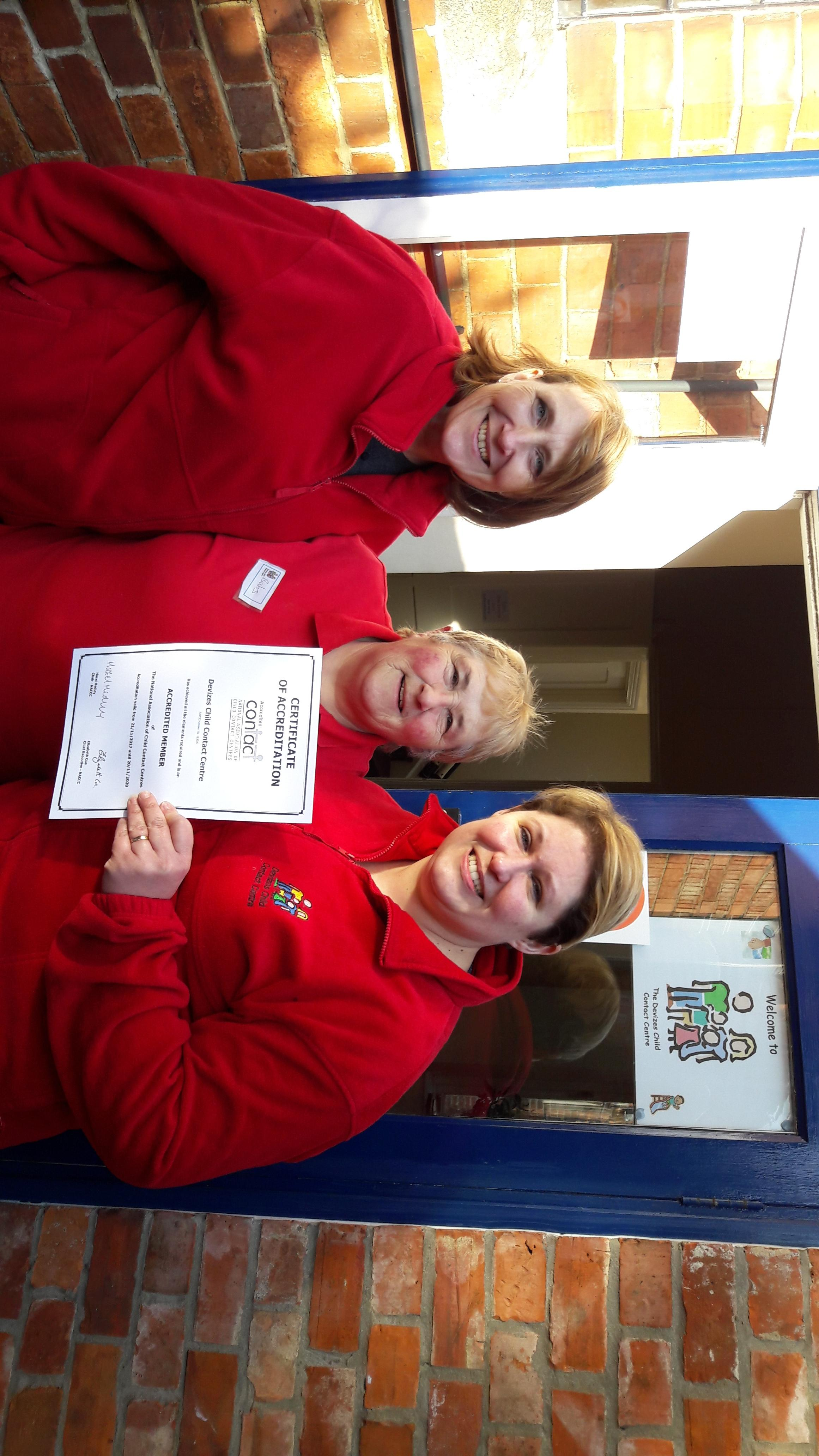 Devizes Child Contact Centre celebrates receiving its accreditation certificate