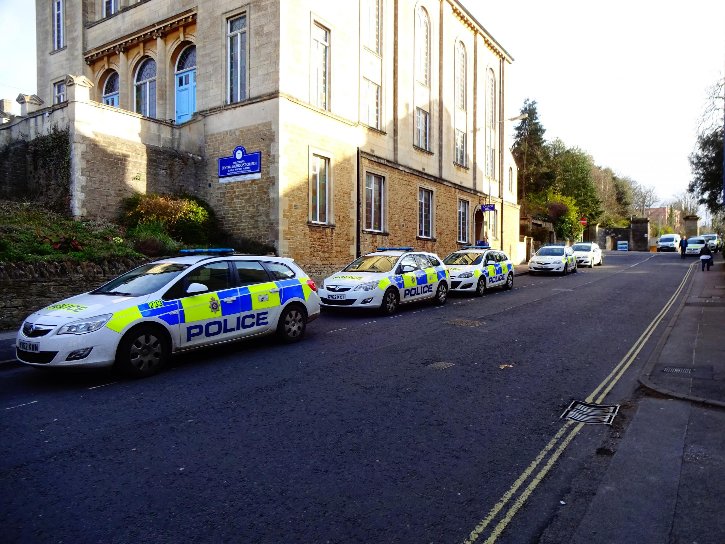 Police officers are parking their cars on Monkton Hill after the car park was closed. Photo: Councillor Nick Murry.