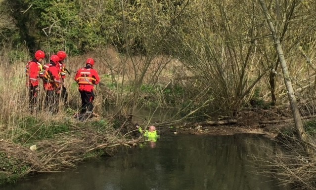 Man rescued from river in Calne
