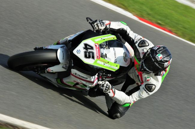 Tommy Bridewell in action at the British Superbike round at Brands Hatch. Picture: TIM CRISP