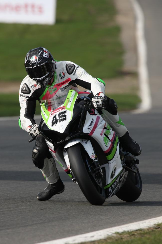 Tommy Bridewell in action at the British Superbike round at Brands Hatch. Picture: TIM CRISP.