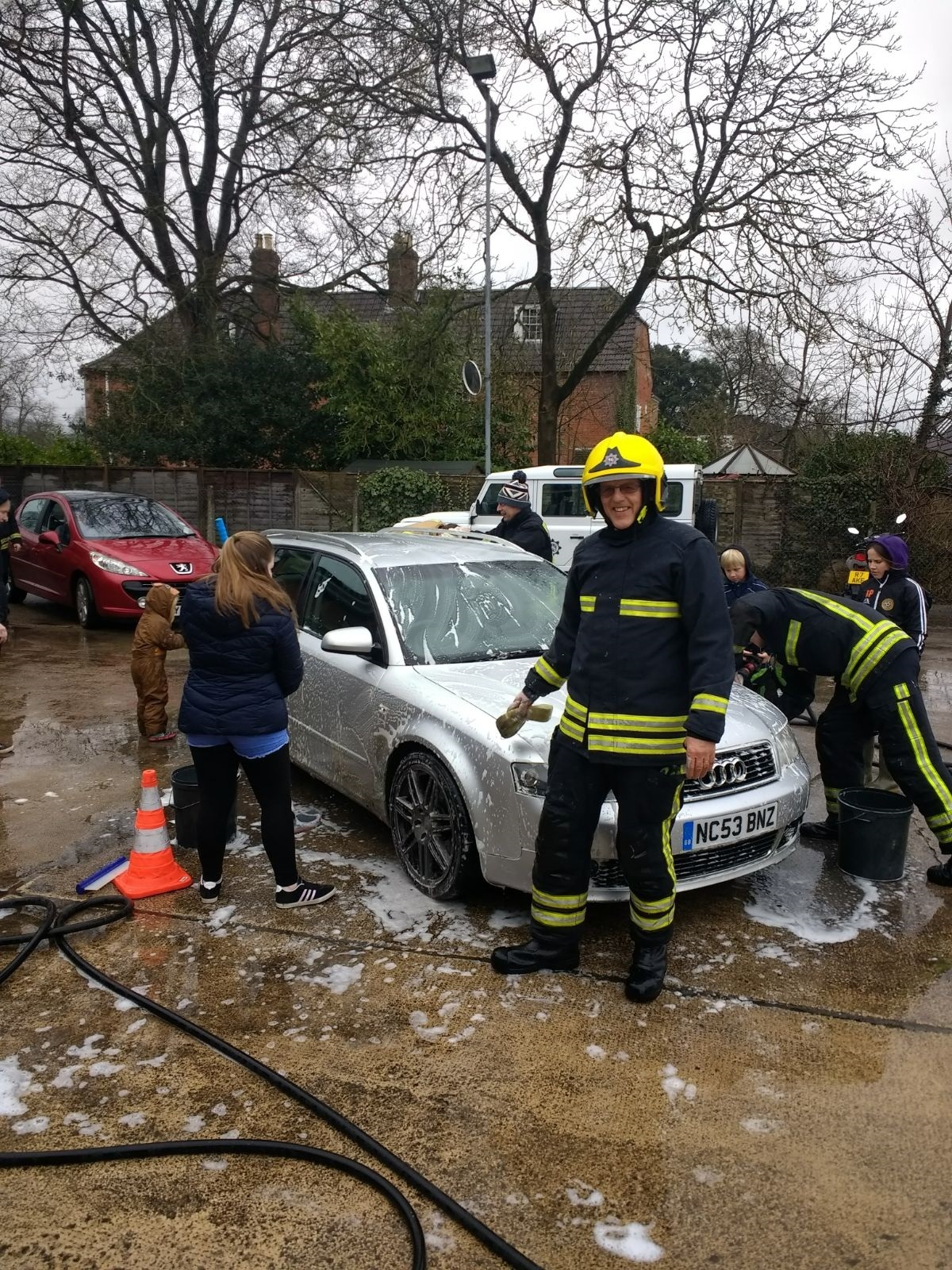 Mike Angel at the Devizes Fire Station car wash.