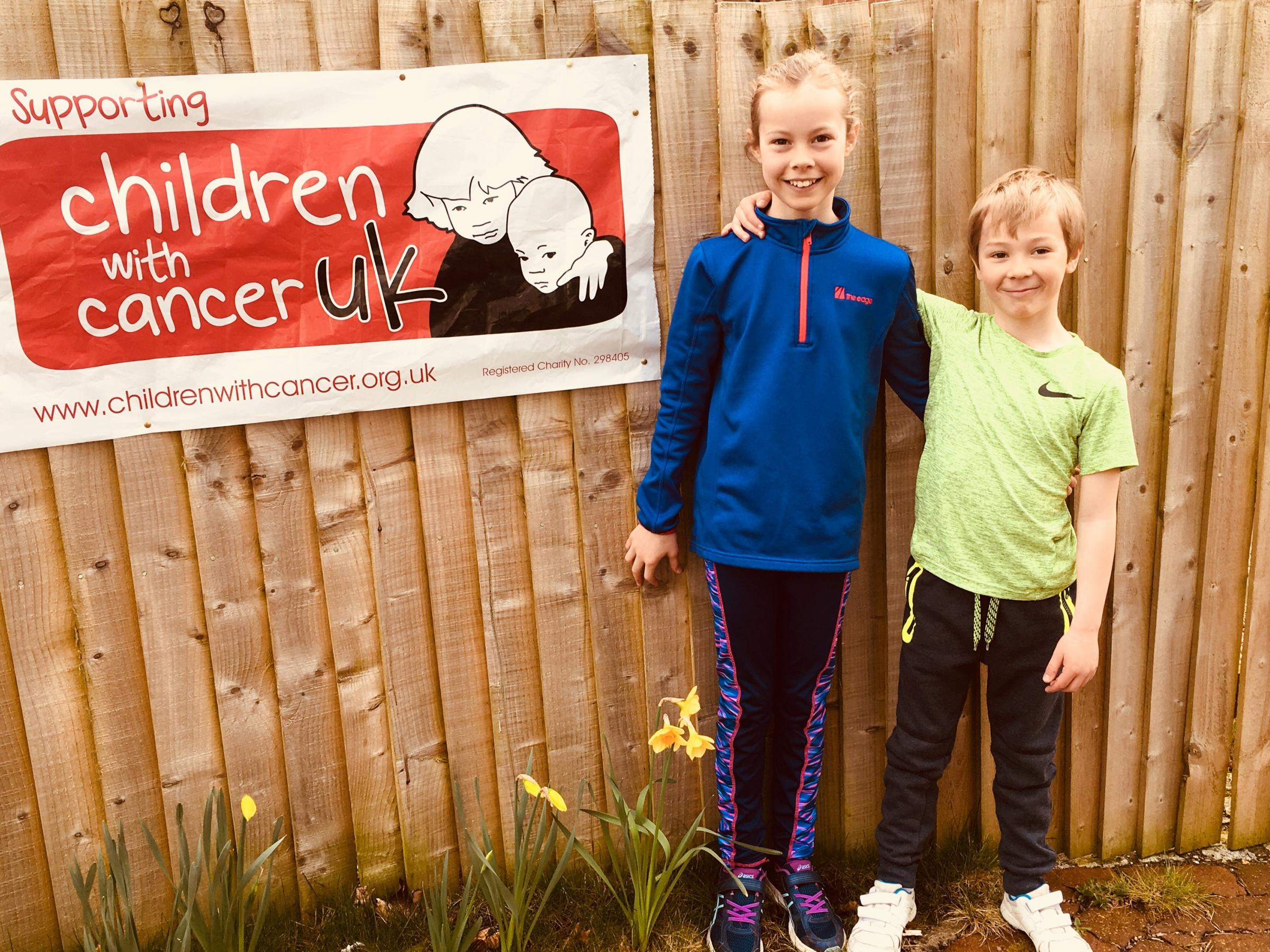 Eliza and Henry raised £100 for