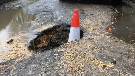 Pothole is causing misery for drivers in Sunnyhill Lane, Oare