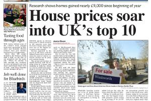 House prices on the up Read more stories like this here...