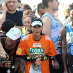 The Wiltshire Gazette and Herald: Katie Price at the start of the 2009 Flora London Marathon (Zak Hussein/PA)