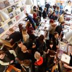 The Wiltshire Gazette and Herald: Shoppers pack the Love Vinyl record shop in Hoxton, east London (John Stillwell/PA)