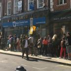 The Wiltshire Gazette and Herald: People queuing outside Sister Ray records in Soho, London (Sam Gelder/PA)