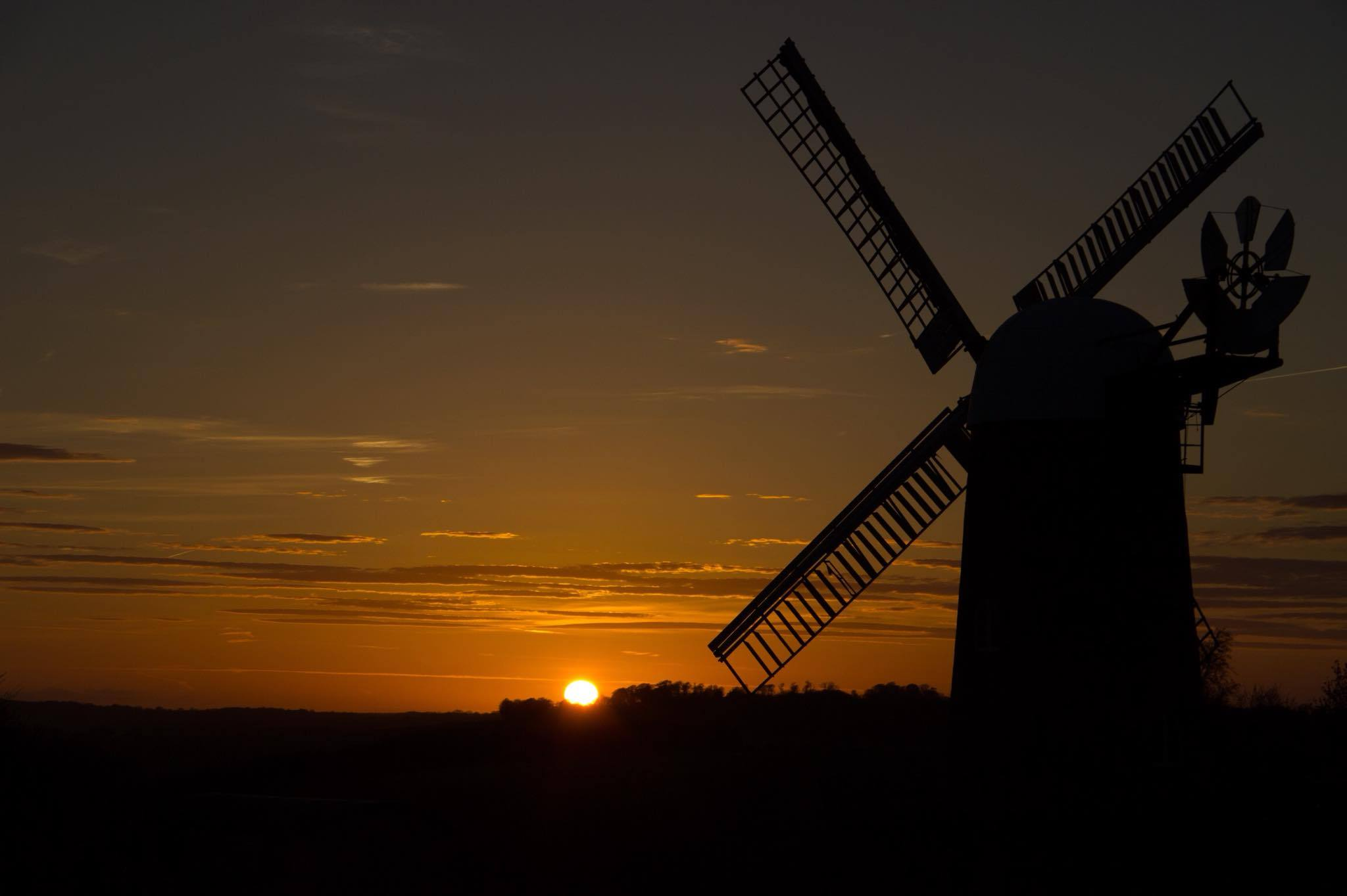Sunset at Wilton Windmill by Neil Pickin.