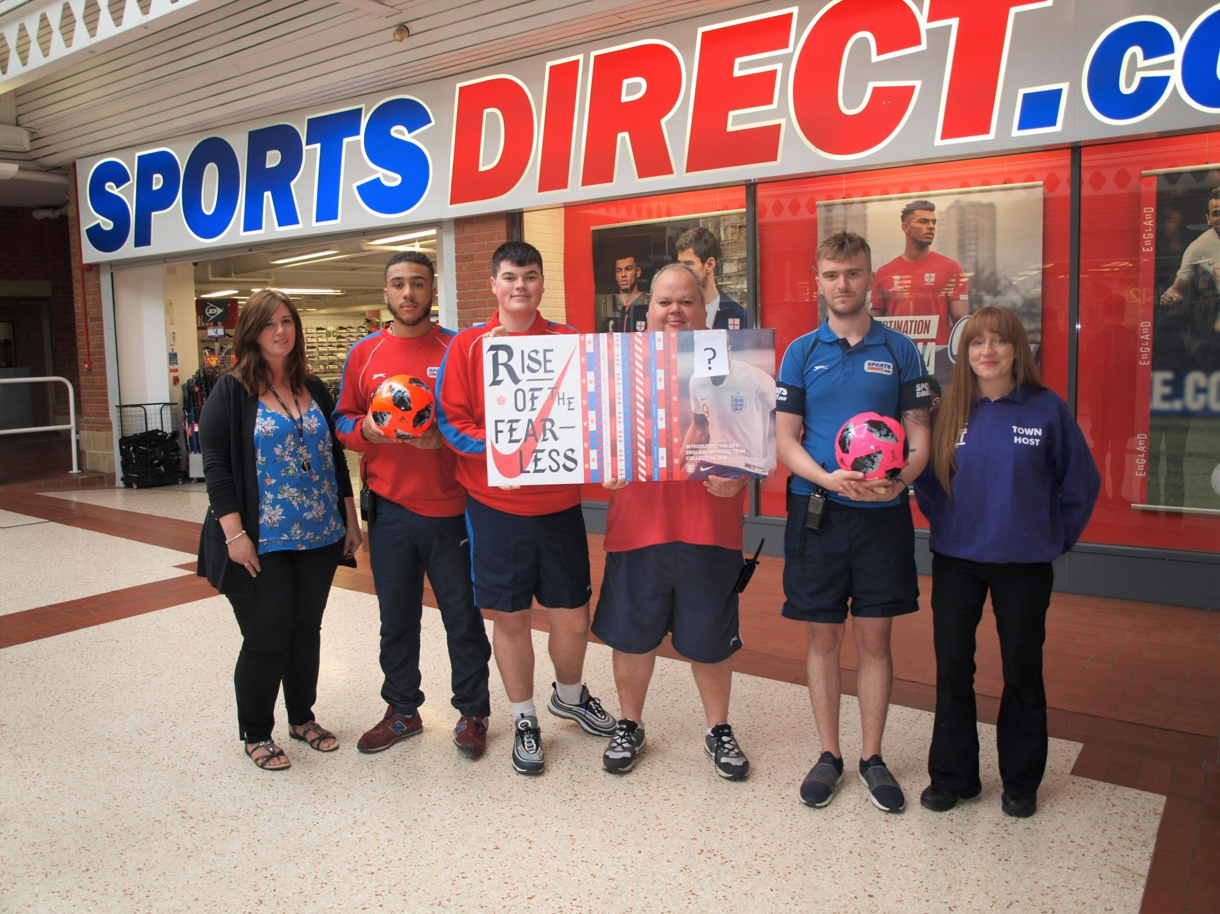 Sports Direct Staff at the store in Chippenham, Emery Gate