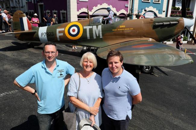 British Second World War pilot's family visit scene of