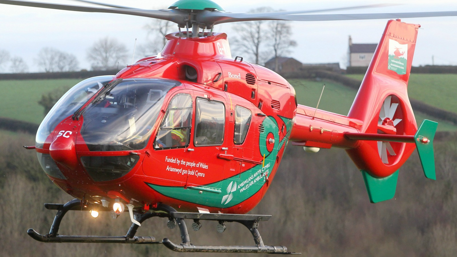 Air Ambulance spotted over Milford after crash on the Dale Road