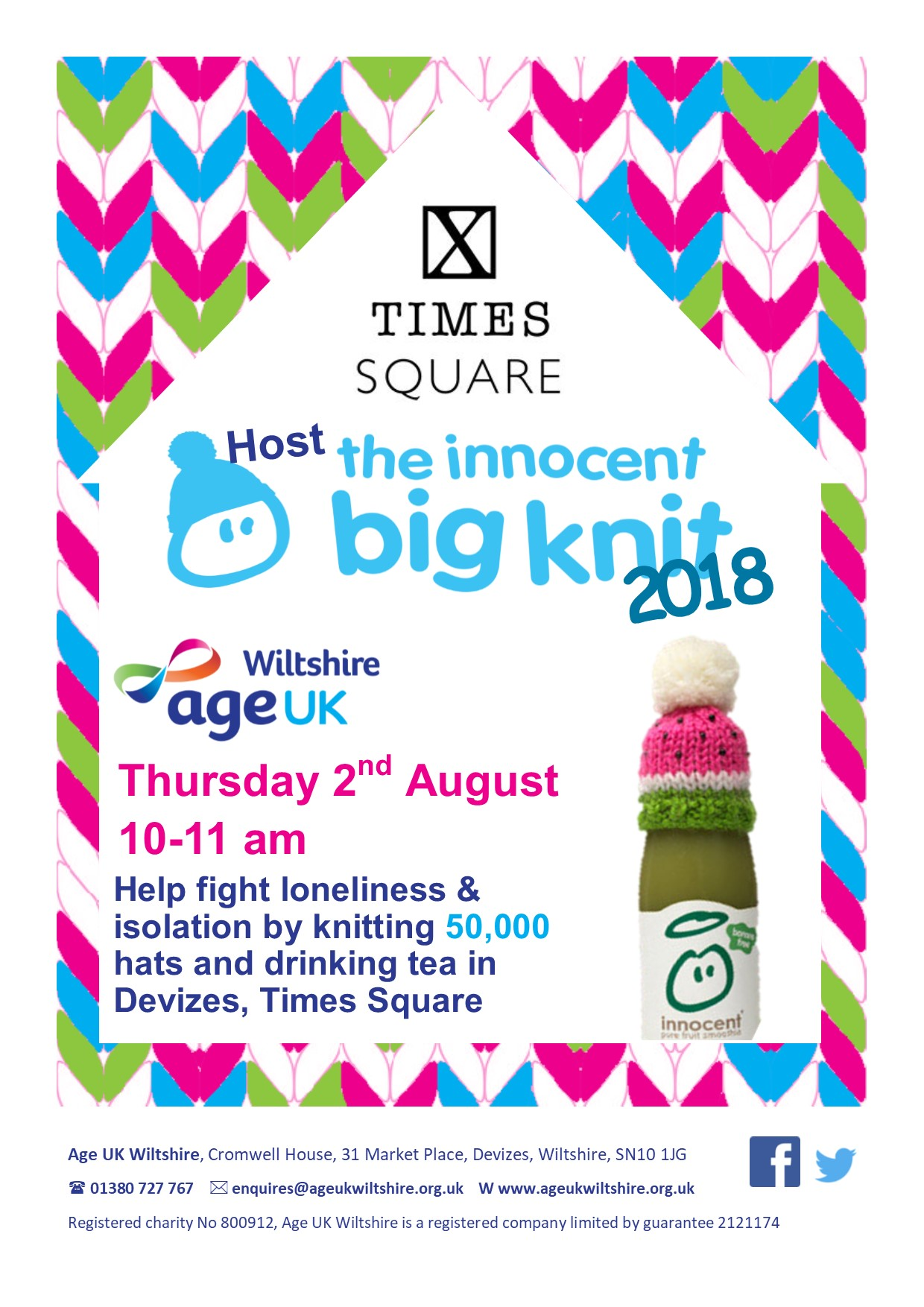 Times Square Host the Big Knit