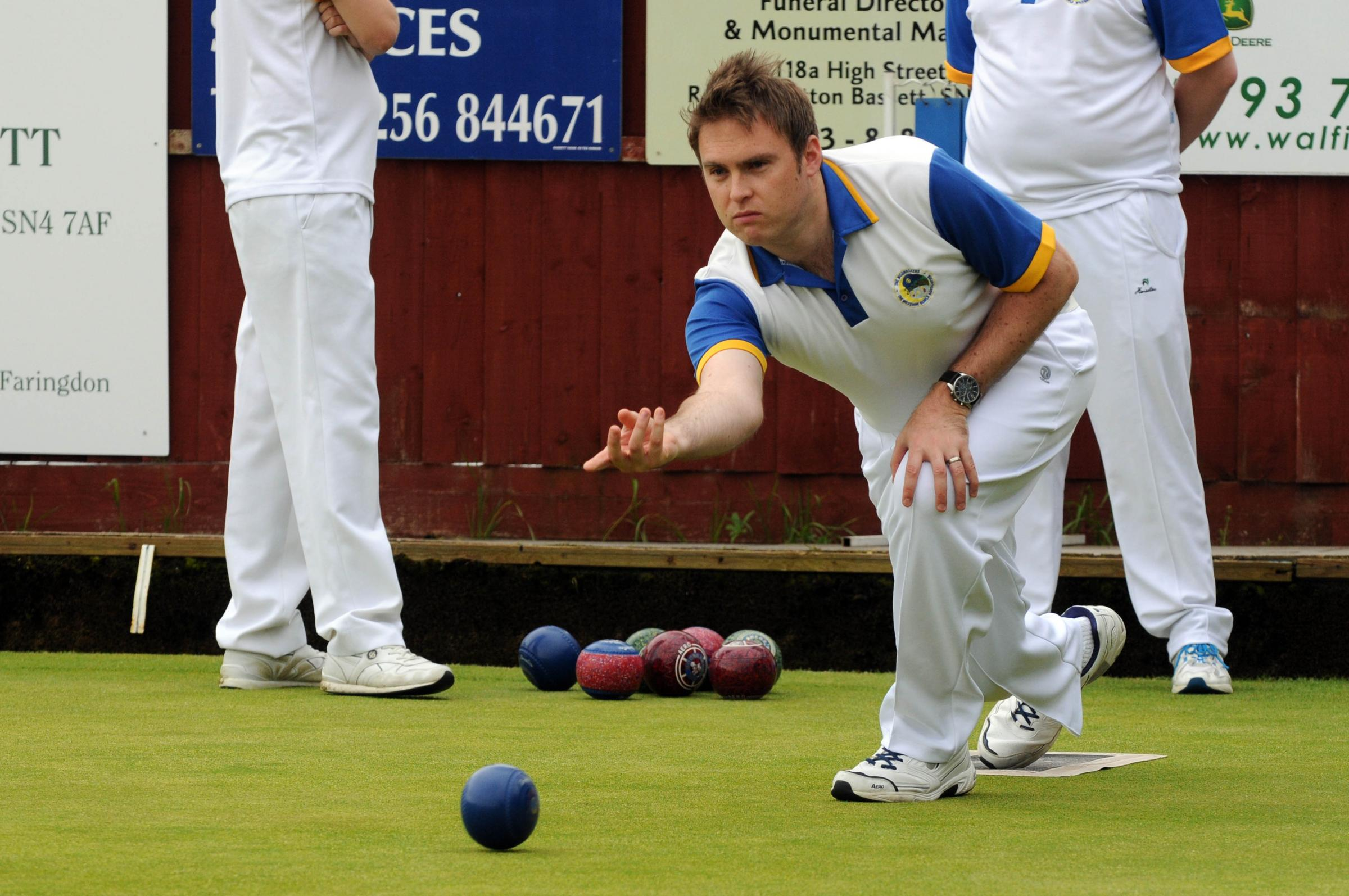 Bowls - Wiltshire BC v Dorset. Pic shows Wayne Snook for Wiltshire..