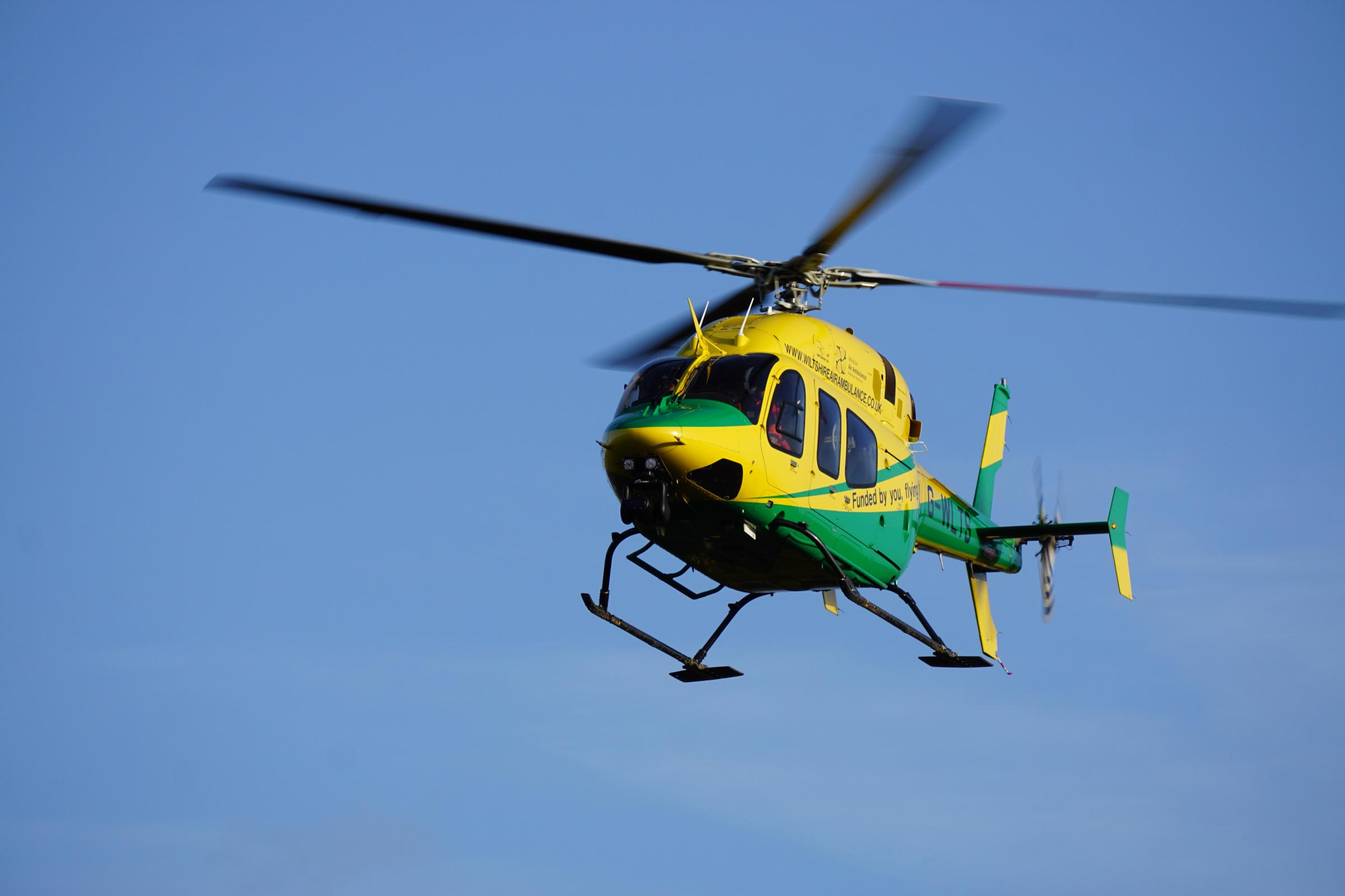 The Wiltshire Air Ambulance helicopter is flying again.