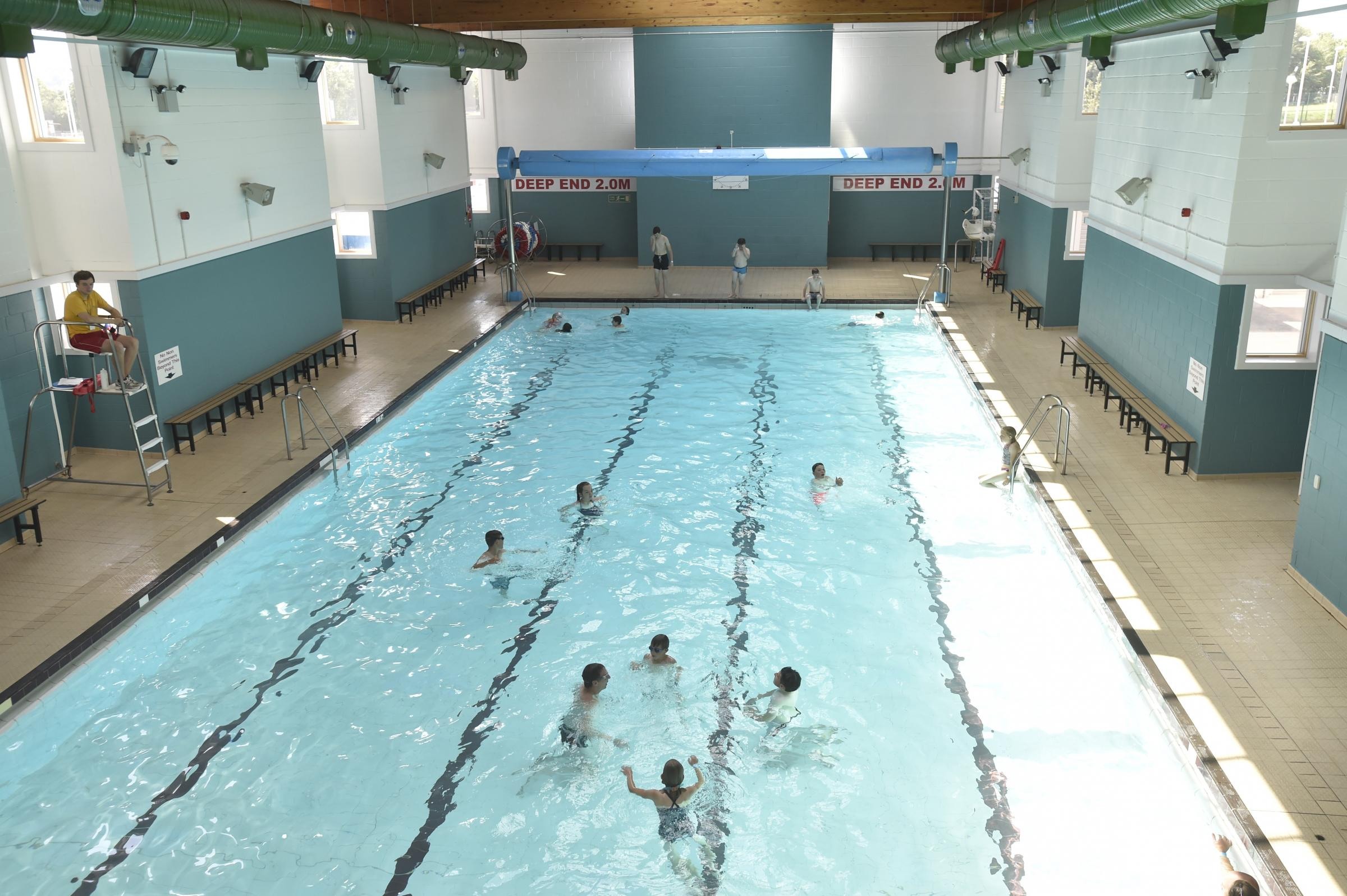 Corsham Community Campus Open Day .The busy swimming pool..Pics by Diane Vose DV2444/13.