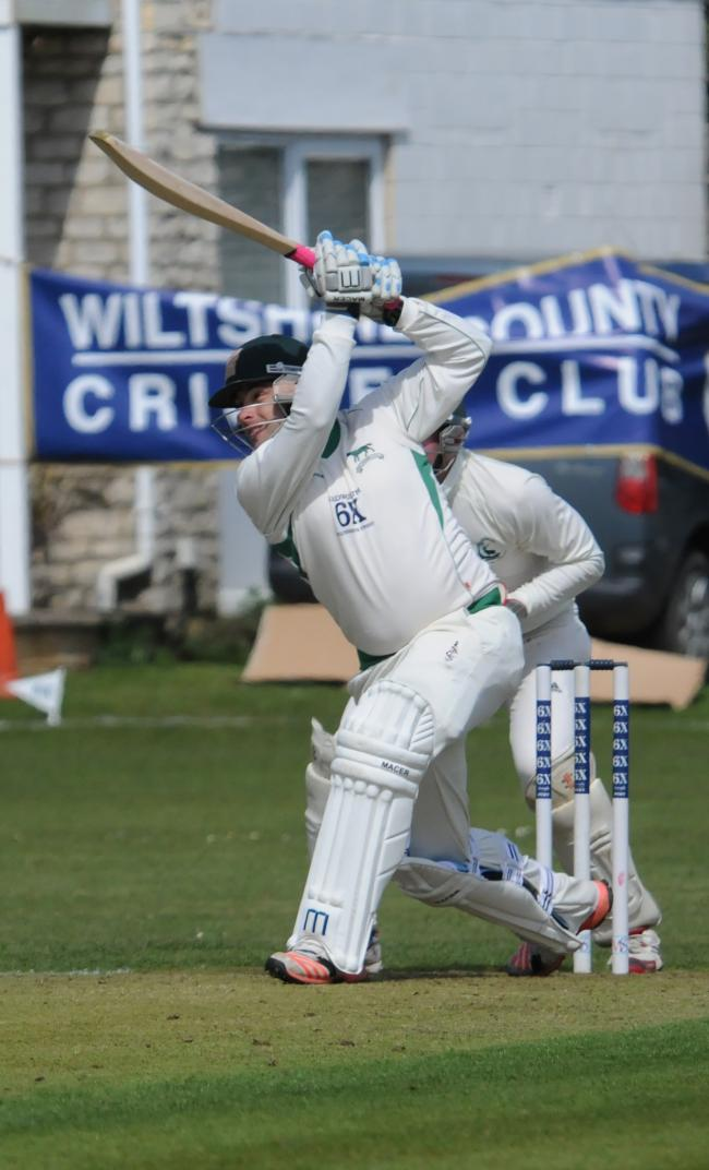 Wiltshire Cricket. Tom Morton in action playing for Wiltshire in the Marlbrough Cup. Pics Trevor Porter 56725 5.