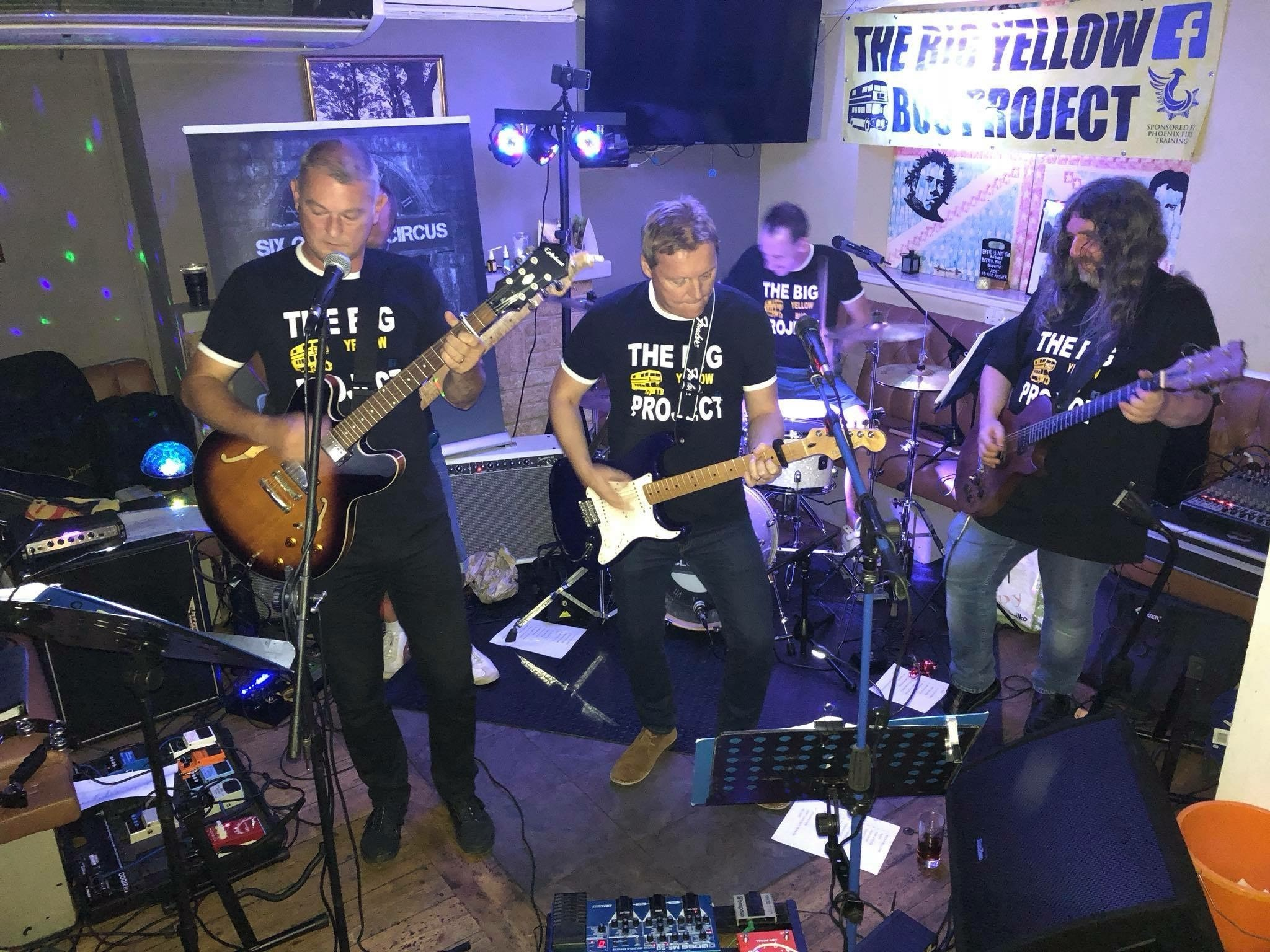 Calne based indie band Six O'clock Circus performed a charity gig at The Talbot Inn, raising money for The Big Yellow Bus Project
