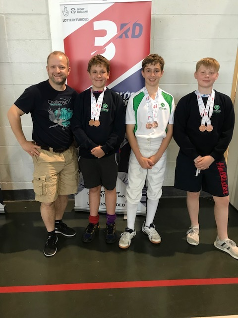 Cricklade Manor fencers at the British Schools Team Championships