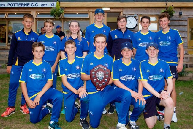 Potterne U15s with the trophy