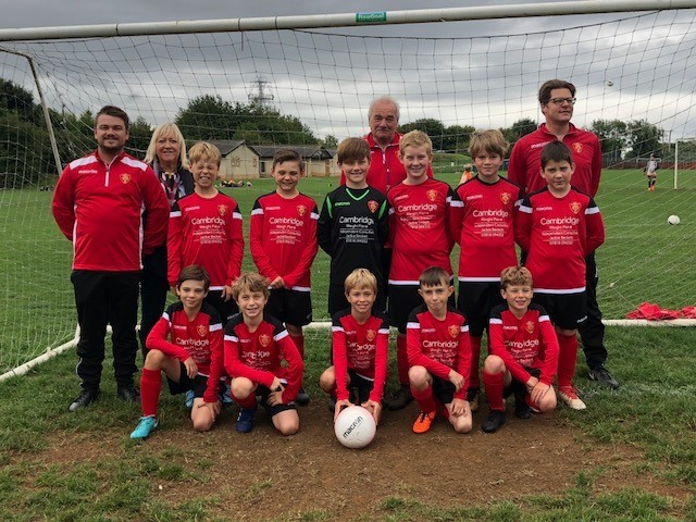 The Corsham AFC Under11s in their new kit