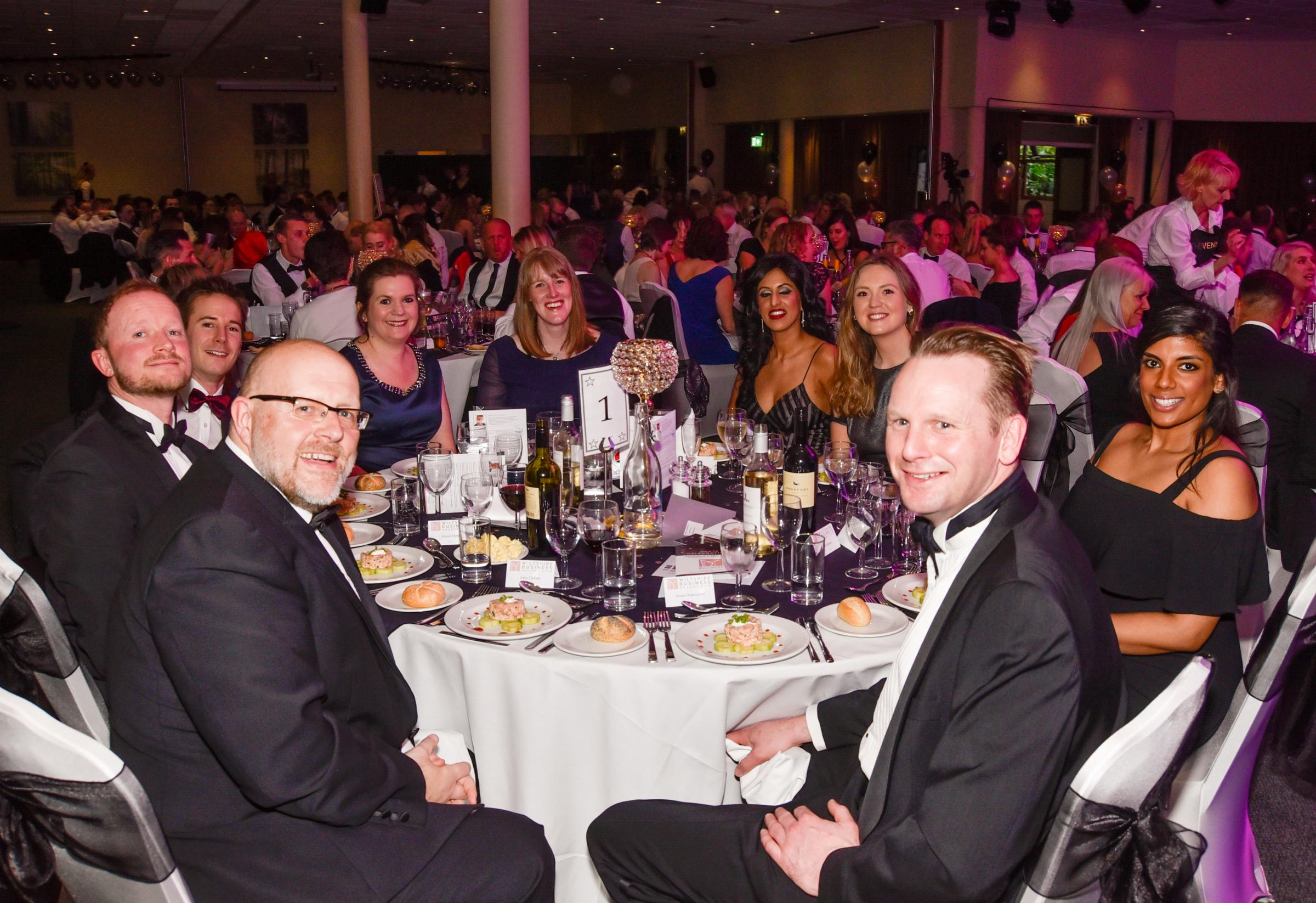 Table no. 1 Wiltshire Business of The  Year Awards 2018  . Photo by www.gphillipsphotography.com.