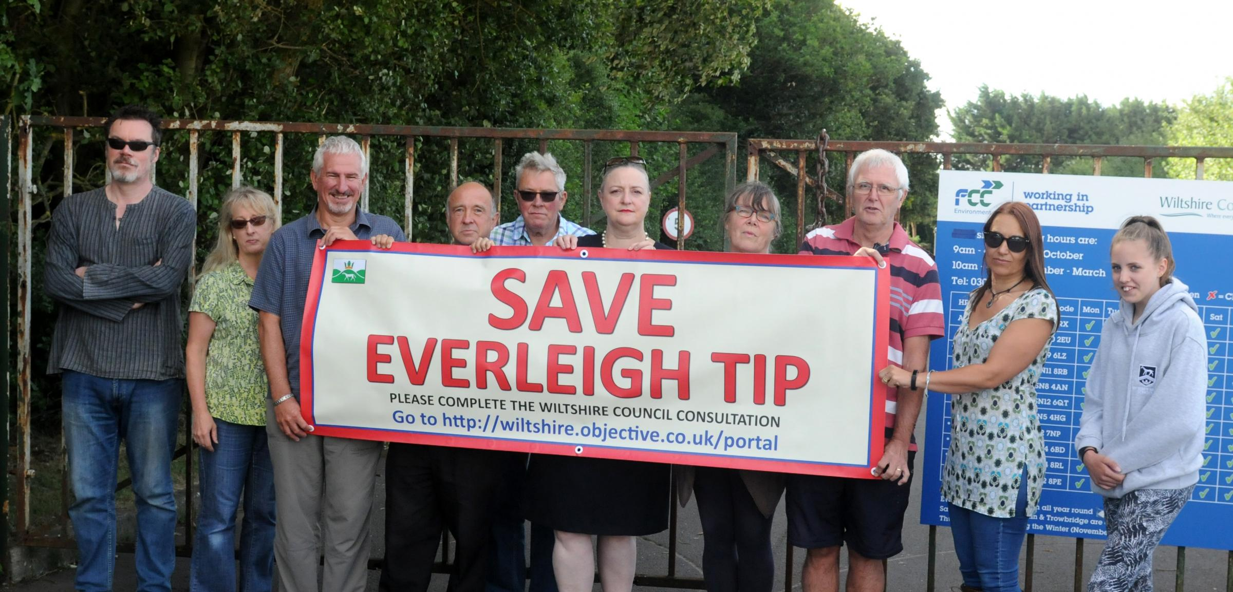 Councillors and members of the community trying to save Everleigh recycling plant. Photo: Siobhan Boyle SMB2492/2...Pictured central l-r are cllr Jerry Kunkler, Curly Haskell (chair Pewsey Parish Council/PCAP - Pewsey Community Area Partnership) and Lis W