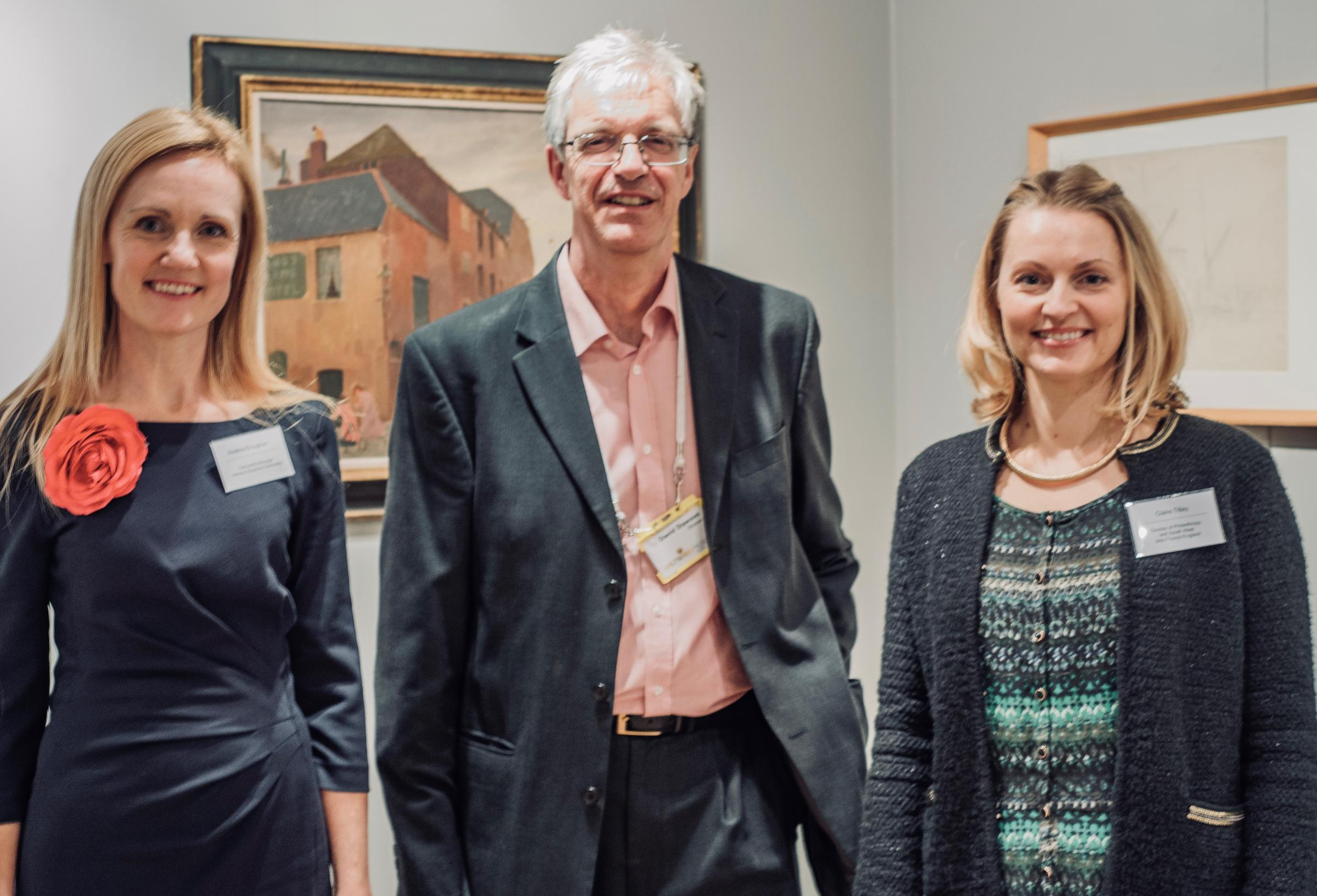 Picture shows: Left to right: Kristina Broughton, Wessex Museums Programme Manager; David Dawson, Director, Wiltshire Museum and Clare Titley, Director of Philanthropy and South West, Arts Council England