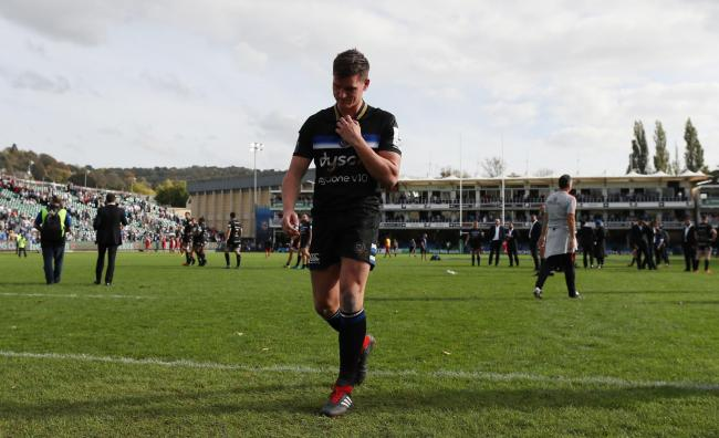 Bath's Freddie Burns after the European Champions Cup match at the Recreation Ground, Bath. PRESS ASSOCIATION Photo. Picture date: Saturday October 13, 2018. See PA story RUGBYU Bath. Photo credit should read: David Davies/PA Wire. RESTRICTIONS: Edito