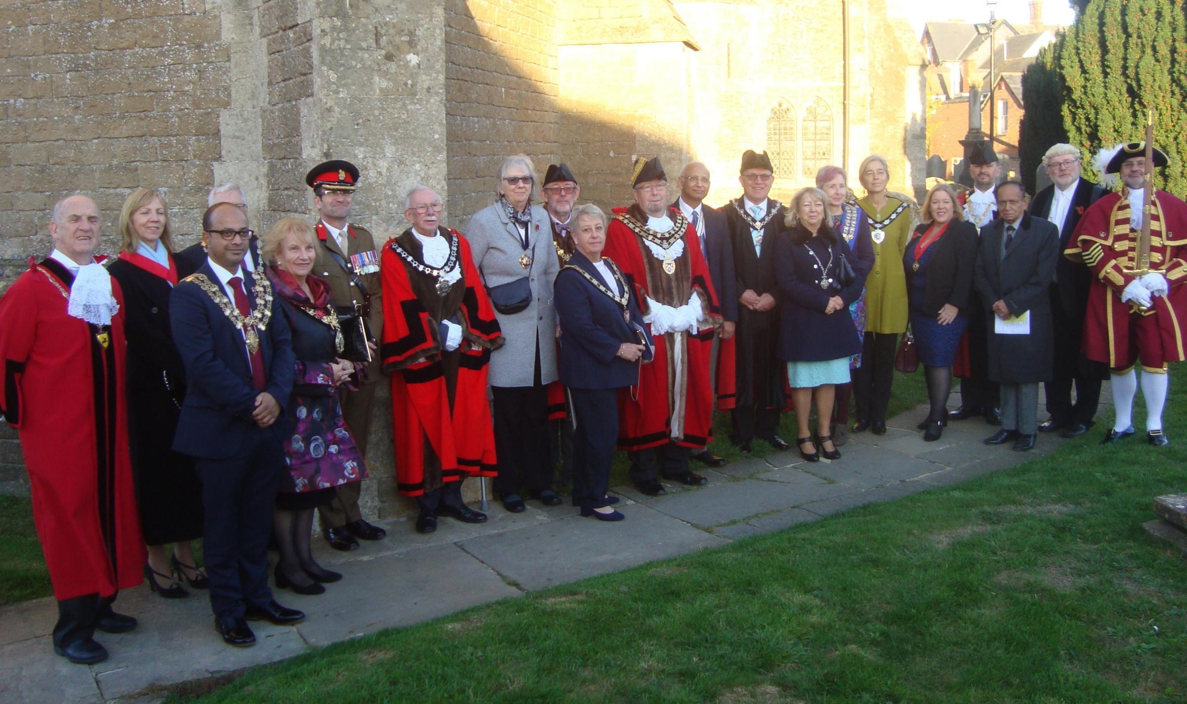 Guests at the Royal Wootton Bassett civic service
