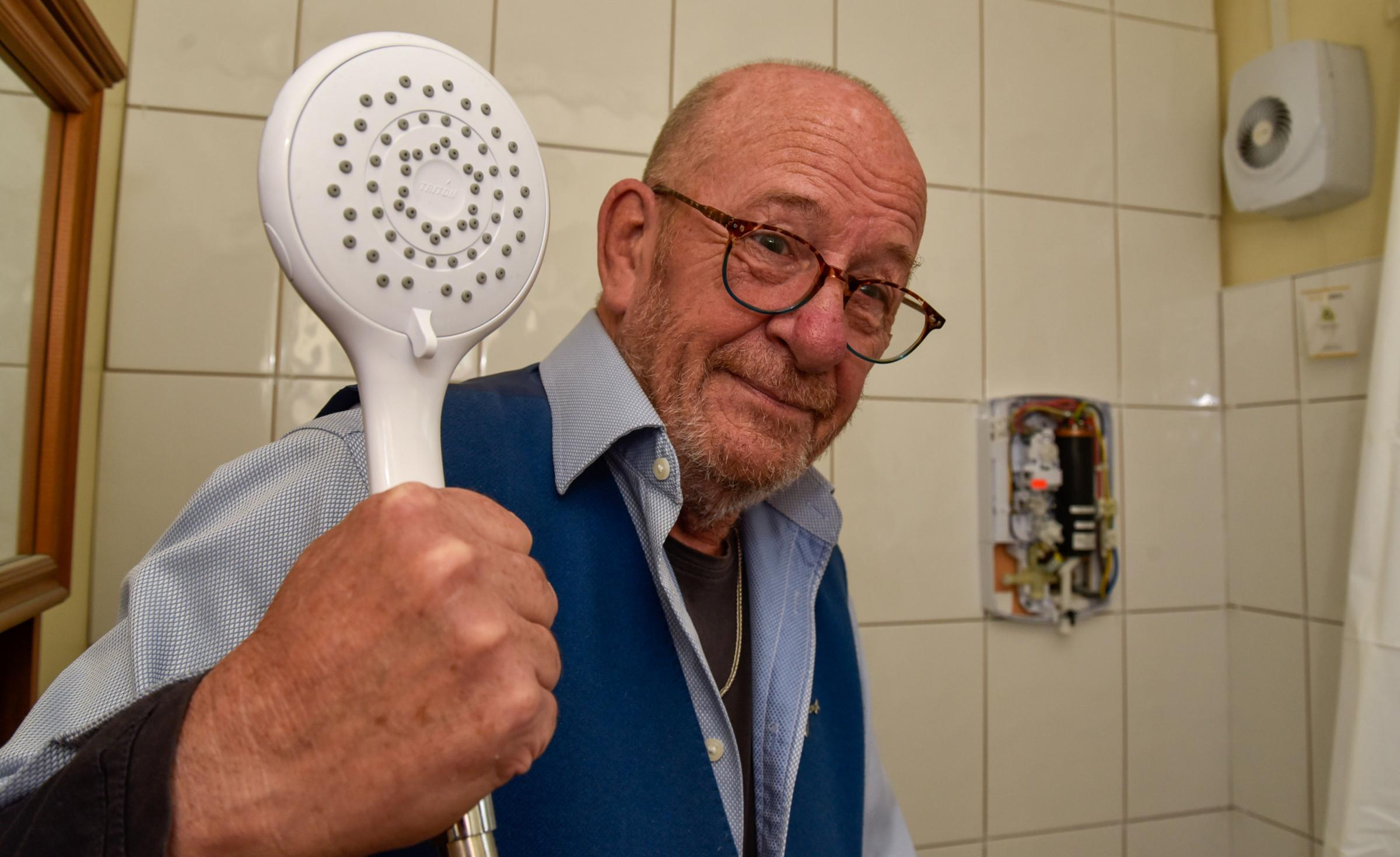 A long wait for a shower for Corsham disabled pensioner James McDonald. Picture: GLENN PHILLIPS