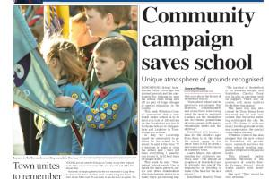 Rowdeford School saved by parents and local community campaign Read more stories like this here...