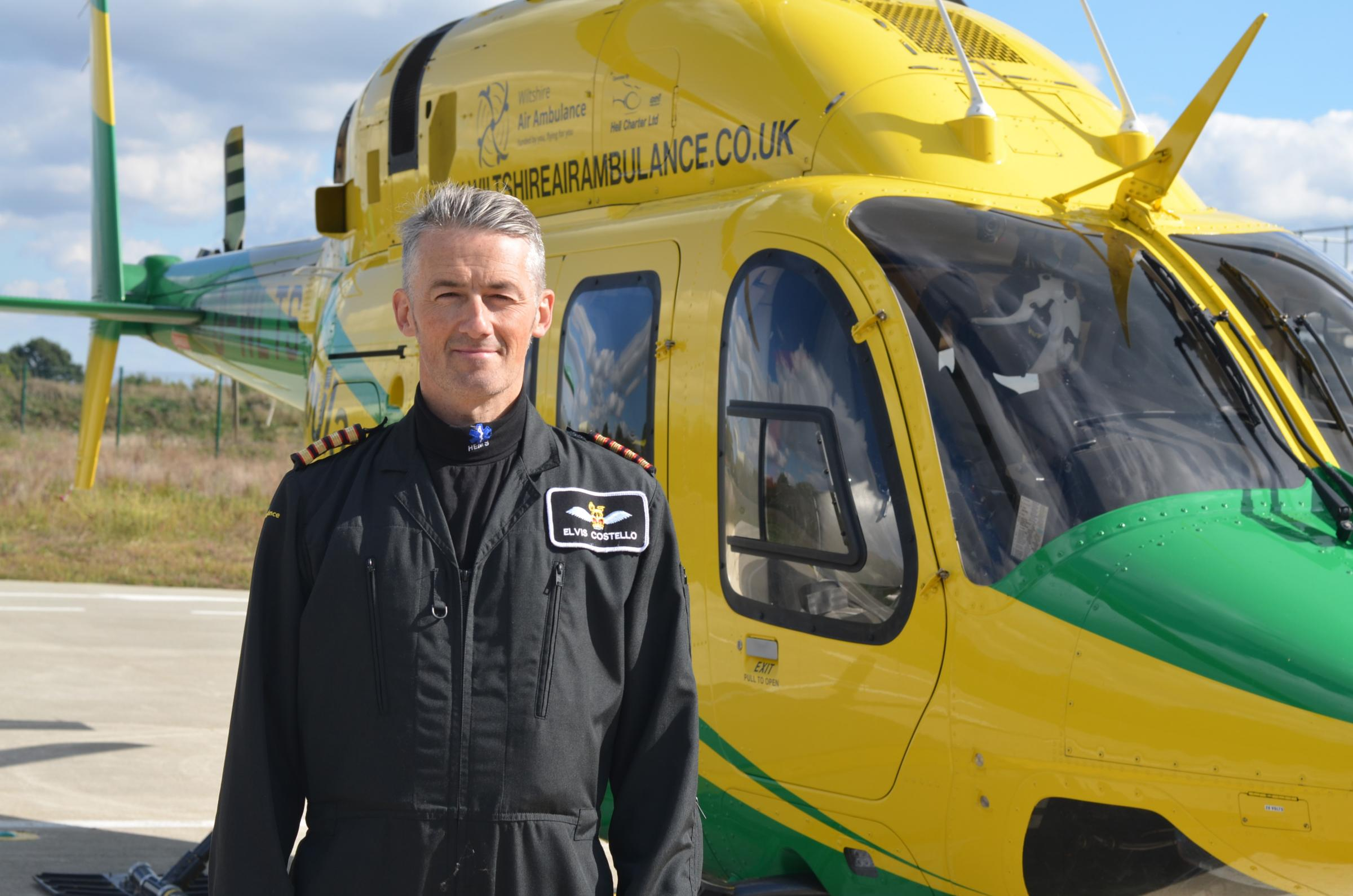 David ' Elvis' Costello, the Wiltshire Air Ambulance's newest crew member