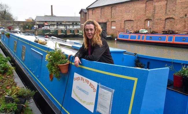 Anna Baker is seeking a drinks off-licence for her  George Bar & Bistro canal boat at Devizes. Photo by www.gphillipsphotography.com GP1517