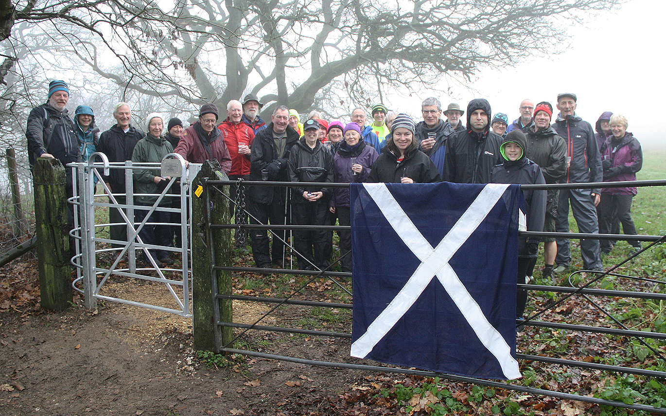 Th kissing gate at Giant's Grave, near Pewsey, was dedicated to the memory of Dr Mark Rendall