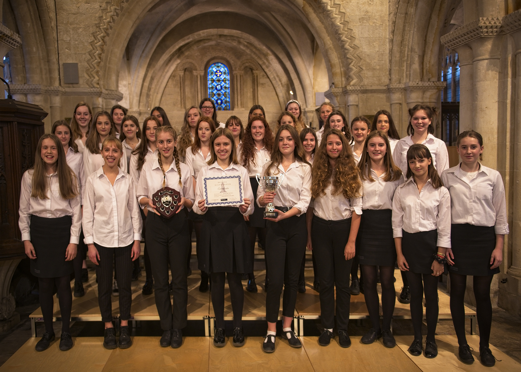 Marlborough Youth Choir took top honours in the Devizes Eisteddfod last month