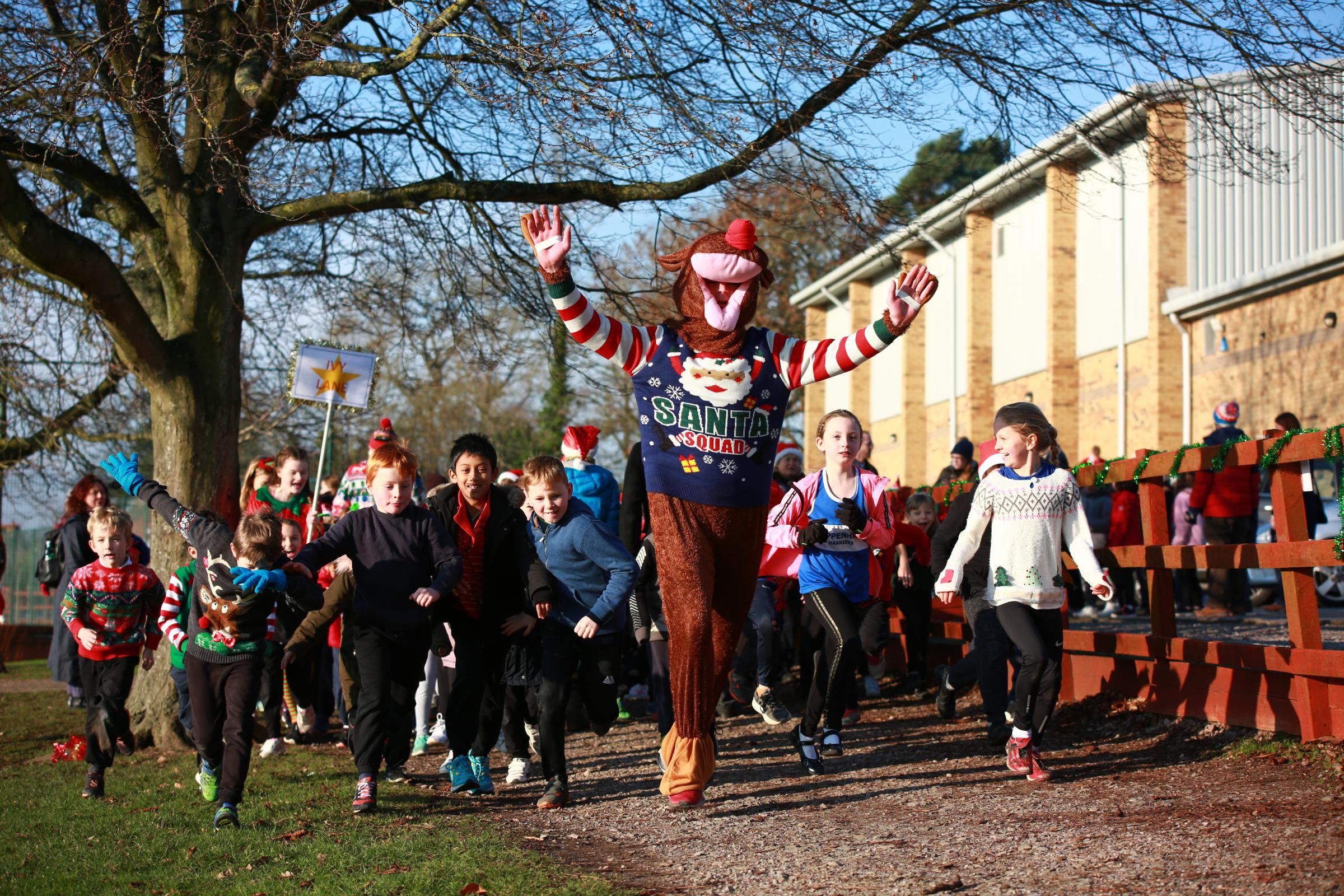 Local primary schools take part in Christmas Cross Country event in Chippenham