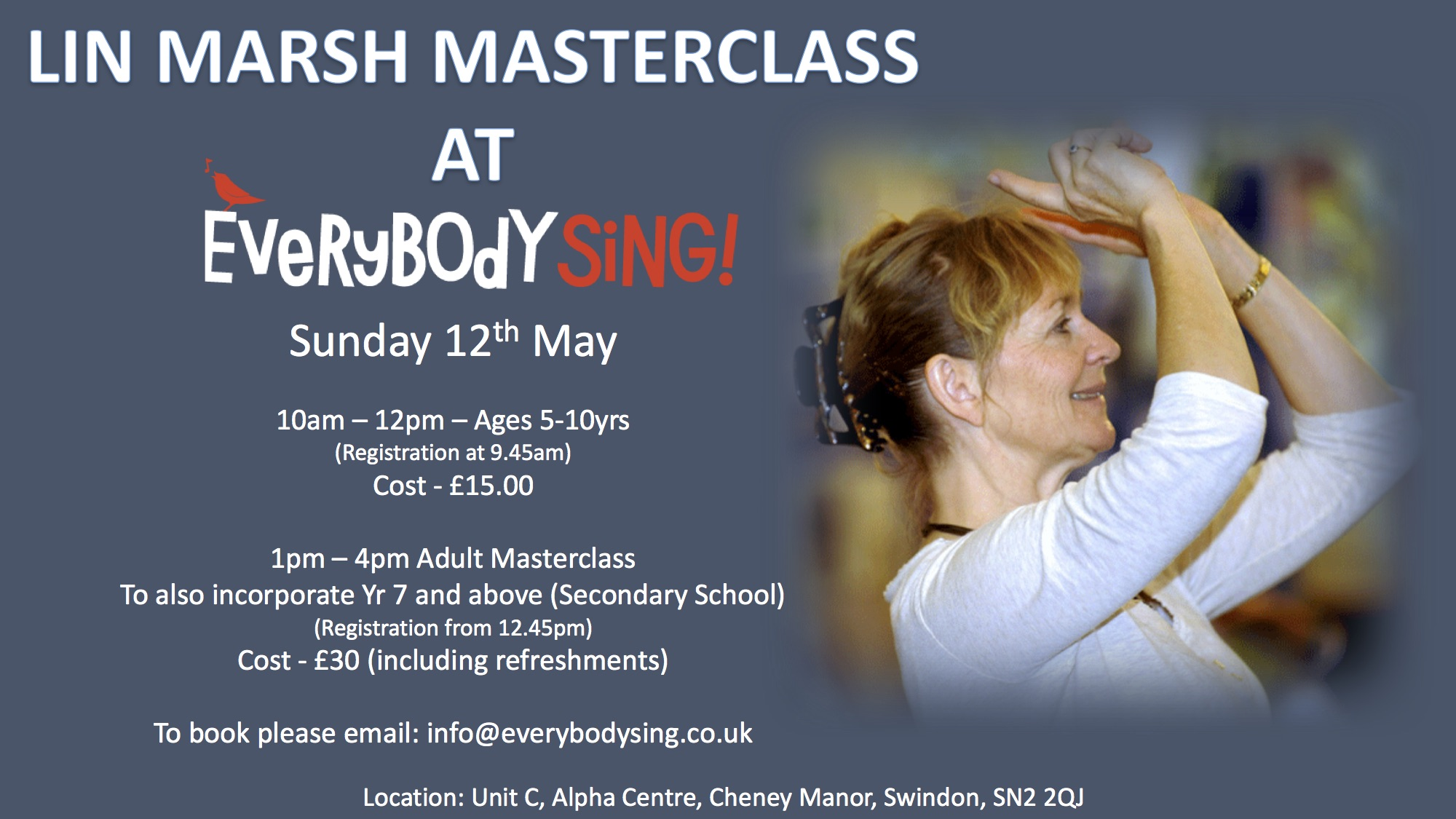 Everybody Sing: Vocal Masterclass with Lin Marsh