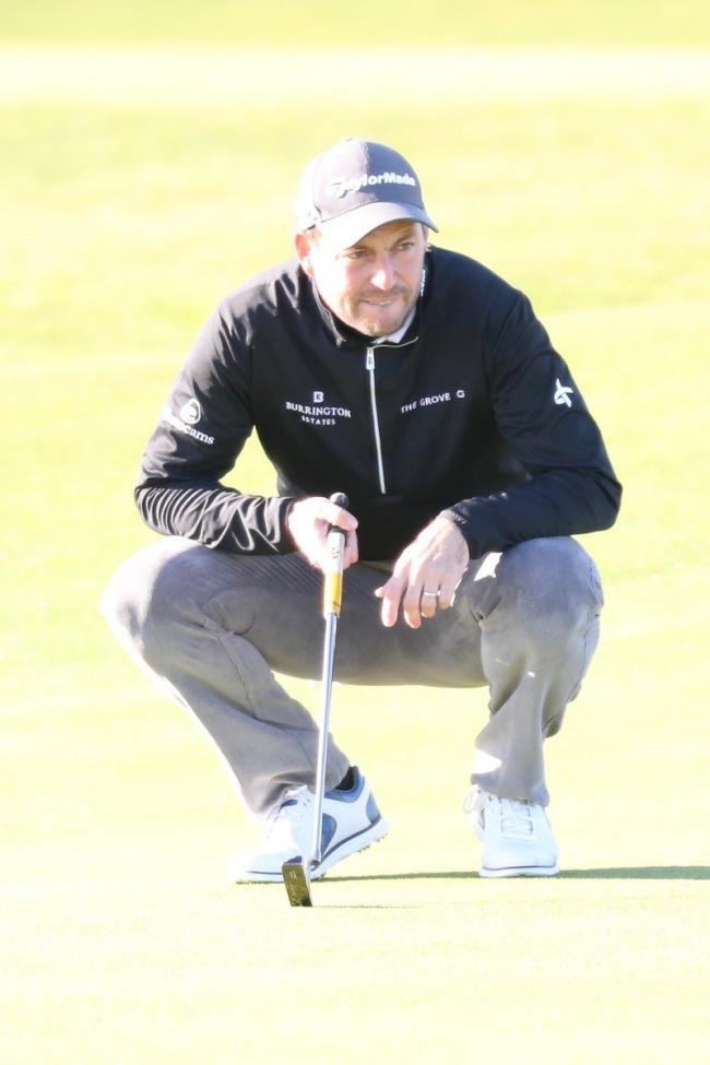 David Howell in action at St Andrews on day one of the Alfred Dunhill Links Championship, Thursday, October 5, 2017. Picture: ANDY CROOK