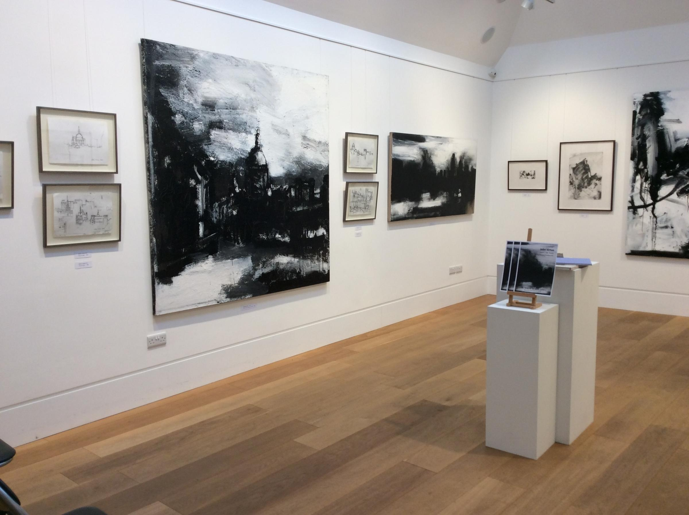John Virtue's work is being exhibited at the Whitehorse Gallery in Marlborough
