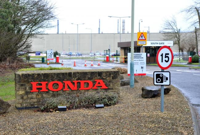 Honda plant south gate..Pic - gv.Date 5/2/19.Pic by Dave Cox.