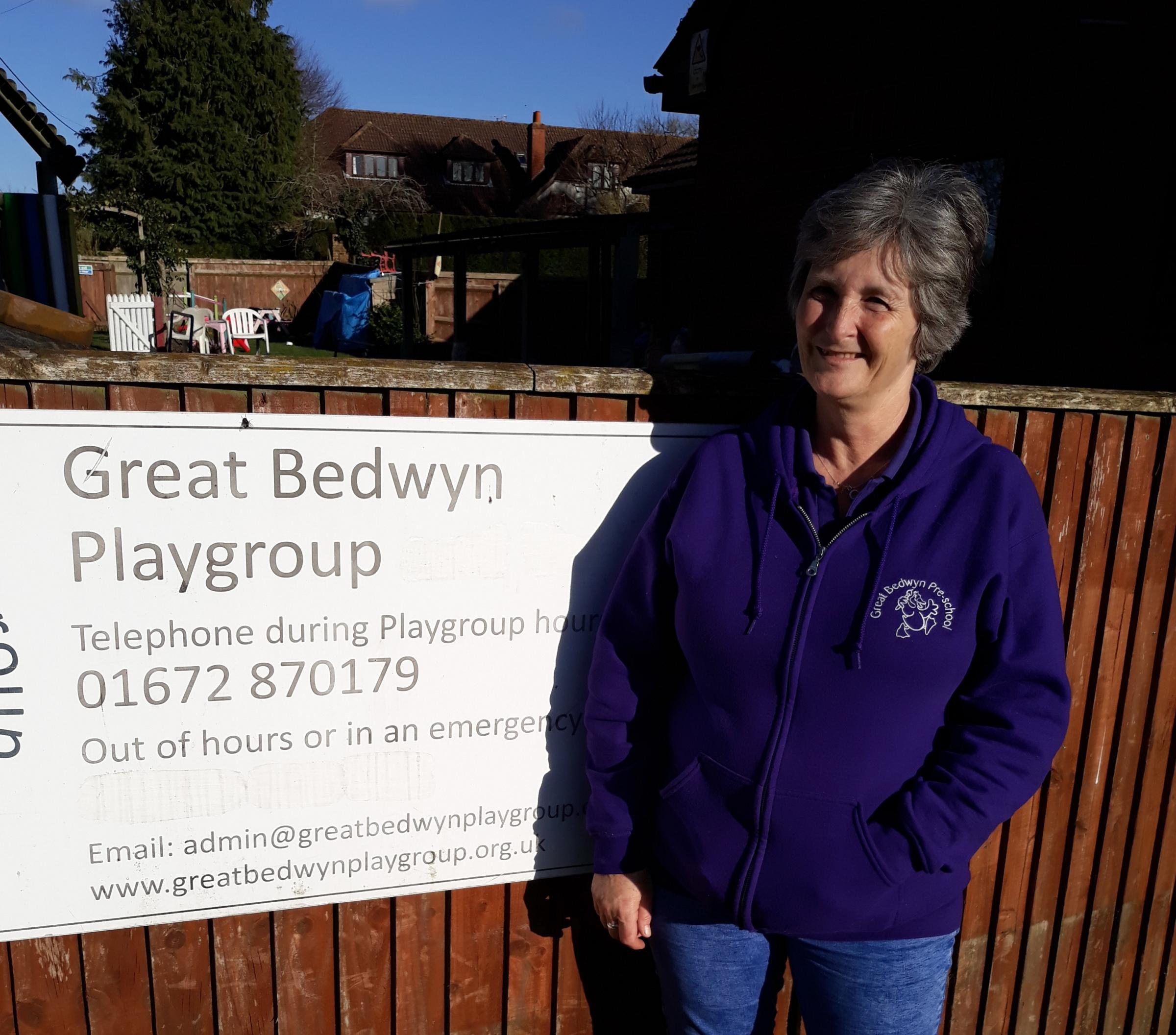 Pauline Perry of Great Bedwyn playgroup