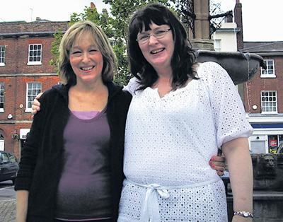 Barbara Maddrell and long-lost cousin Valerie Phillips in Devizes