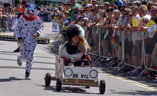 The soap box derby in Chippenham
