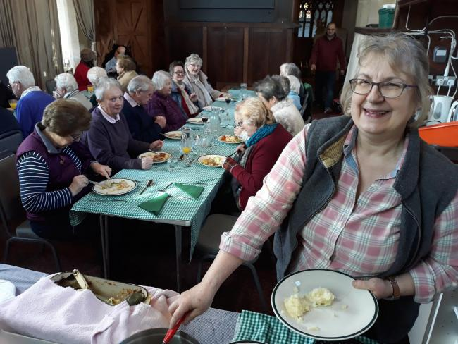 The community lunch at Great Bedwyn last week