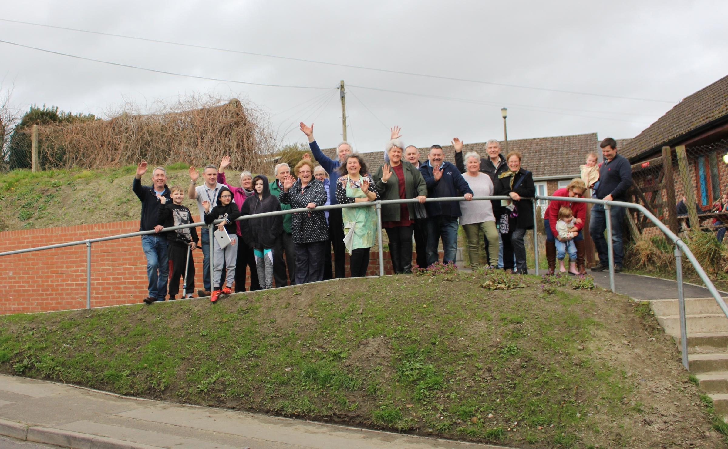 Potterne Youth Club celebrates new ramp